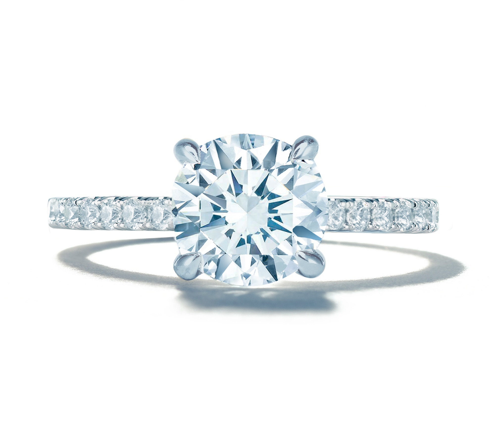four a si rings engagement cut set h white g ring teal with platinum single brilliant claw diamond